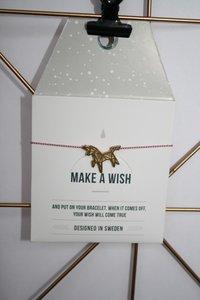 Make A Wish Armband - unicorn goud