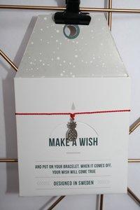 Make A Wish Armband - ananas zilver