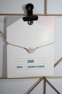 Armband - veer zilver