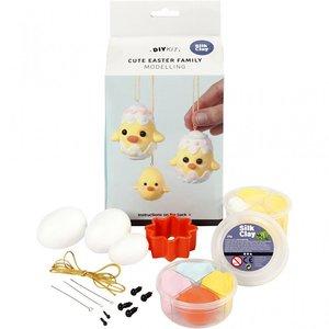 DIY Kit - Cute Easter family - boetseren