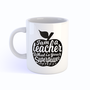 Mok I am a teacher Zwart - Studio Inktvis