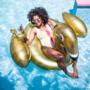 Luchtmatras Gouden Zwaan XL - Swim Essentials