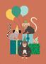 Postkaart Happy Birthday aap - Petit Monkey