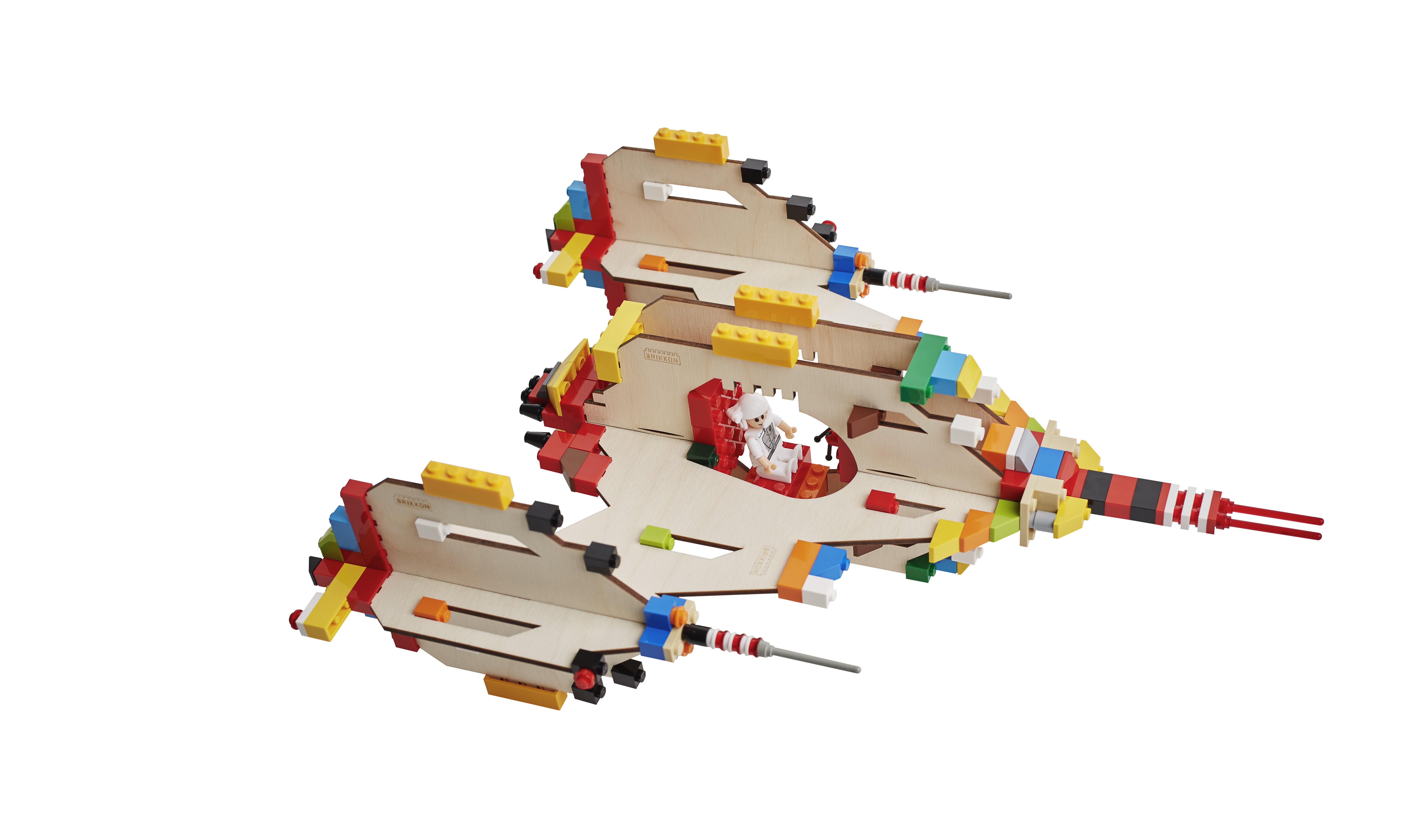 Bouwplaat Ruimteschip - Brikkon