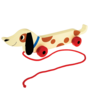 Trekspeeltje houten worstenhond - Rex London